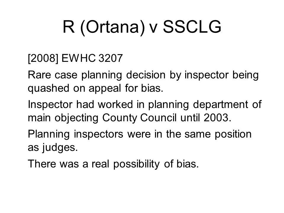 R (Ortana) v SSCLG [2008] EWHC 3207